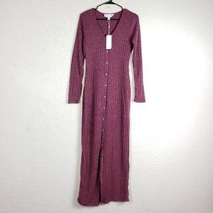 NWT superfoxx full button maxi dress size medium